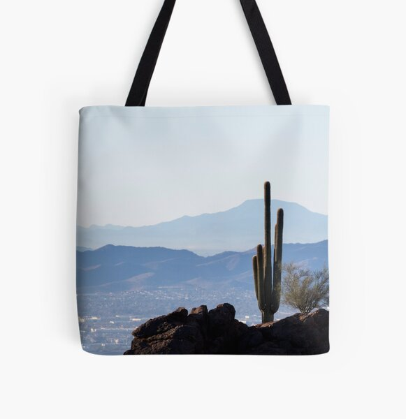 Camelback Cactus All Over Print Tote Bag