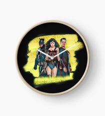 superheroes Clock