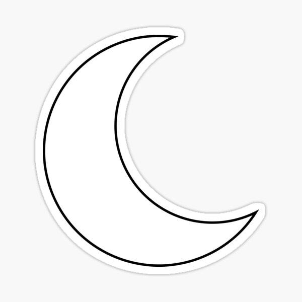 Crescent Moon Black Sticker
