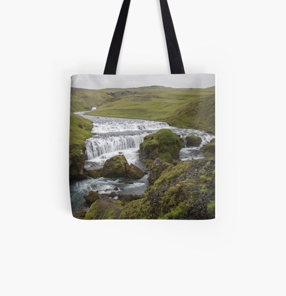 Iceland Waterfall All Over Print Tote Bag