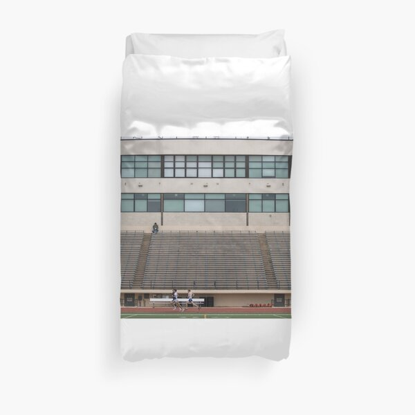 Mildly Wes Anderson Track Meet Duvet Cover