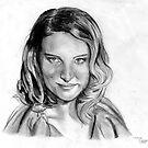 Natalie Portman Portrait by Delin