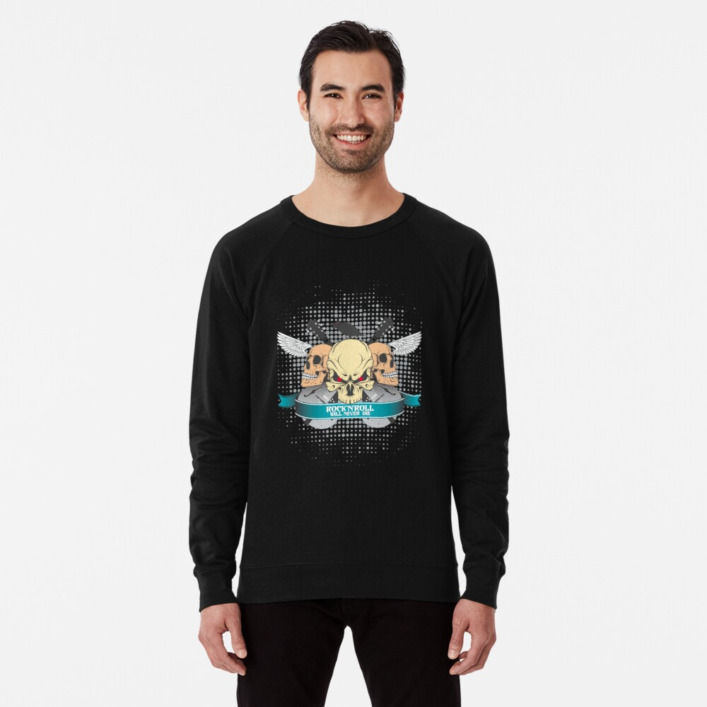 Rock'n'roll will never dies Lightweight Sweatshirt