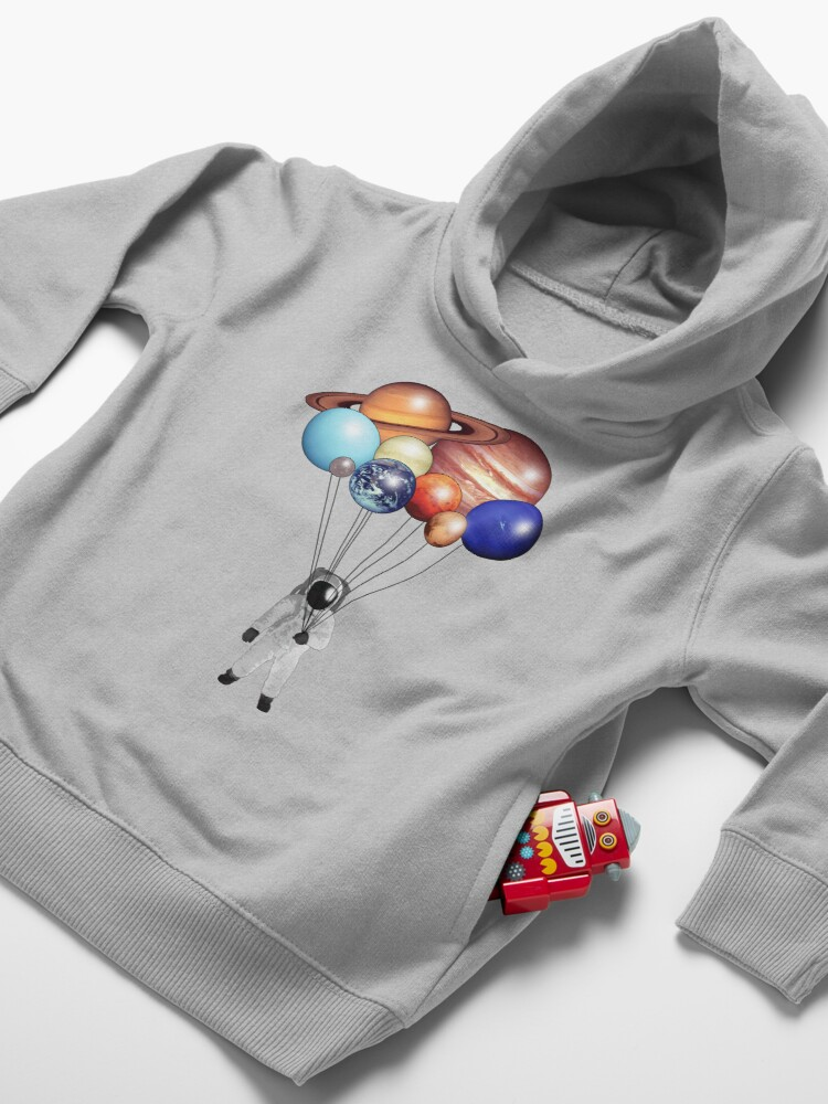 Alternate view of Astronaut Balloons Toddler Pullover Hoodie