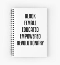 Black Female African American Design Spiral Notebook