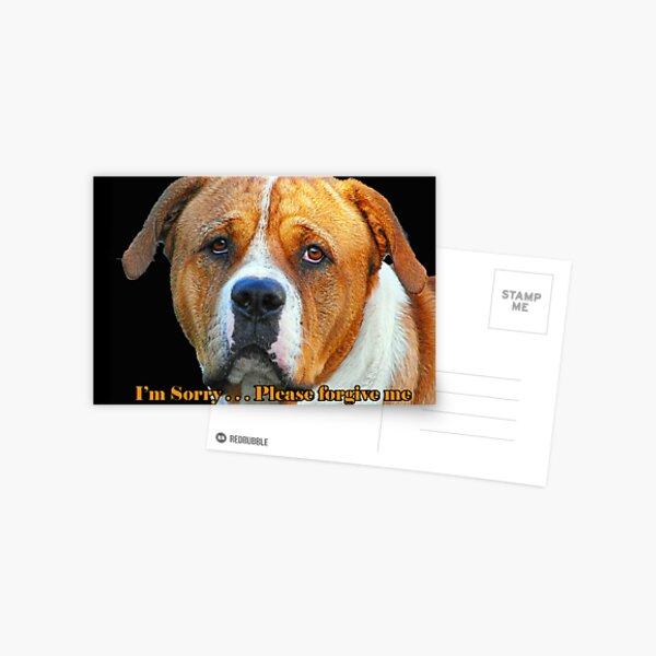 Boxer Dog Card Postcard