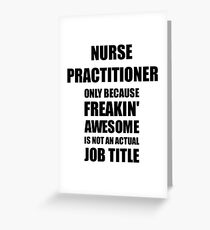 Nurse Practitioner Greeting Cards Redbubble