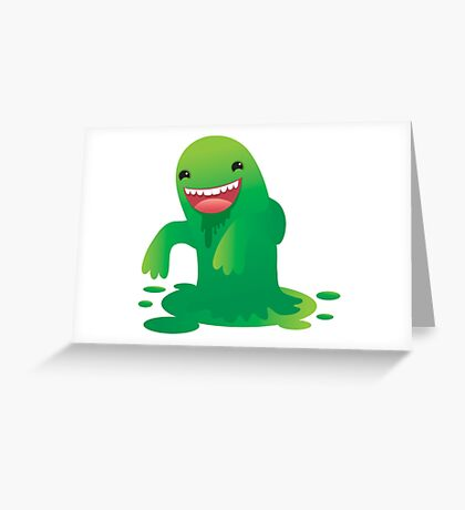 Green boogie monster Greeting Card