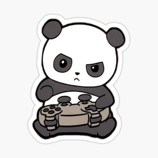 Gaming Panda Sticker