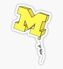 Michigan Balloon Sticker Sticker