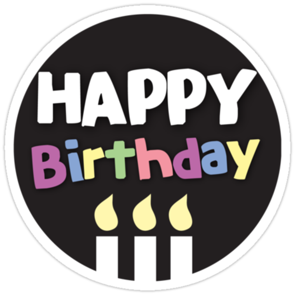 """""""Happy Birthday Circle With Cute Candles"""" Stickers By"""