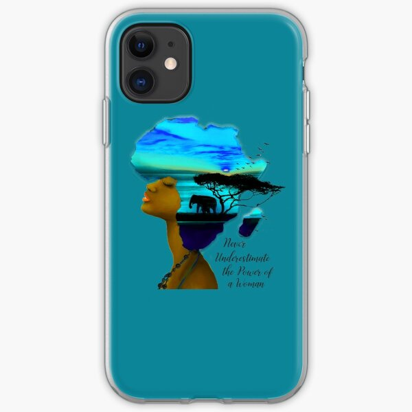 Never Underestimate the Power of a Woman iPhone Soft Case
