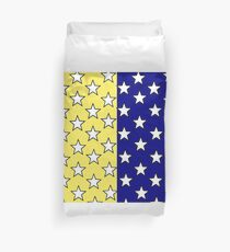 Blue and yellow stars Duvet Cover