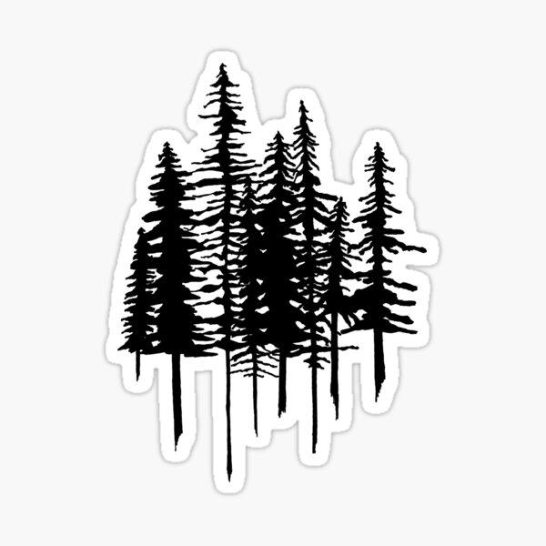 Pine Trees Sticker