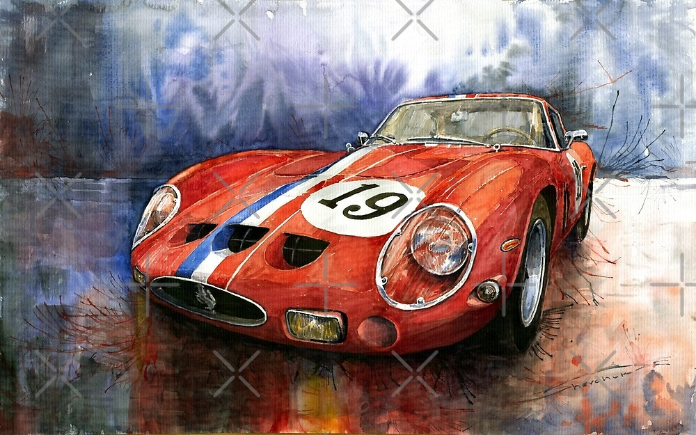 saatchi ferrari in by painting martorell art guillermo view ukijhhtk pug artist