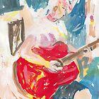 Red Guitar by John Douglas