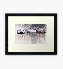 French GP 1954 MB W 196 Meserati 250 F Framed Print