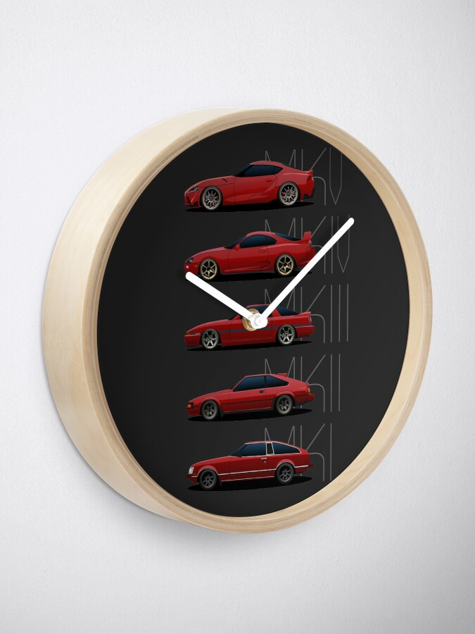 Alternate view of Toyota Supra Generations Clock