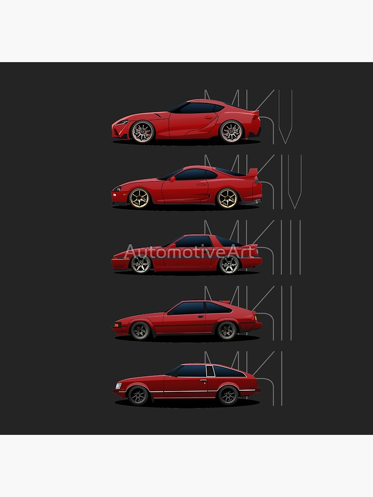 Toyota Supra Generations by AutomotiveArt