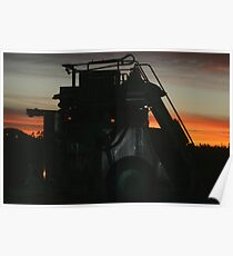 Grape Harvester at Work Poster