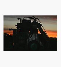 Grape Harvester at Work Photographic Print