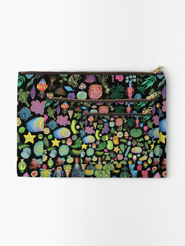 Alternate view of Tasty Slugs & Tasty Cacti: extra Variation Zipper Pouch