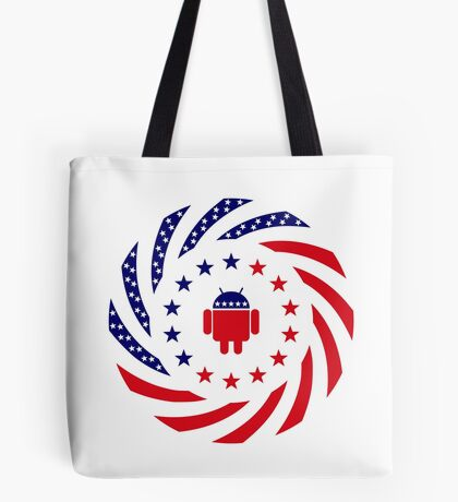 Android Murican Patriot Flag Series Tote Bag