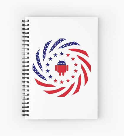 Android Murican Patriot Flag Series Spiral Notebook