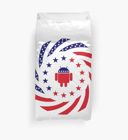 Android Murican Patriot Flag Series Duvet Cover