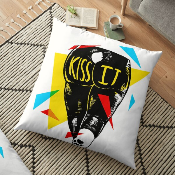 Primary Dogs XIII: KISS IT Floor Pillow