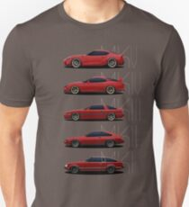 Toyota Supra Generationen Slim Fit T-Shirt