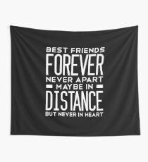 Langstreckenfreundschaft: Beste Freunde für immer nie getrennt vielleicht in der Ferne, aber niemals im Herzen Wandbehang