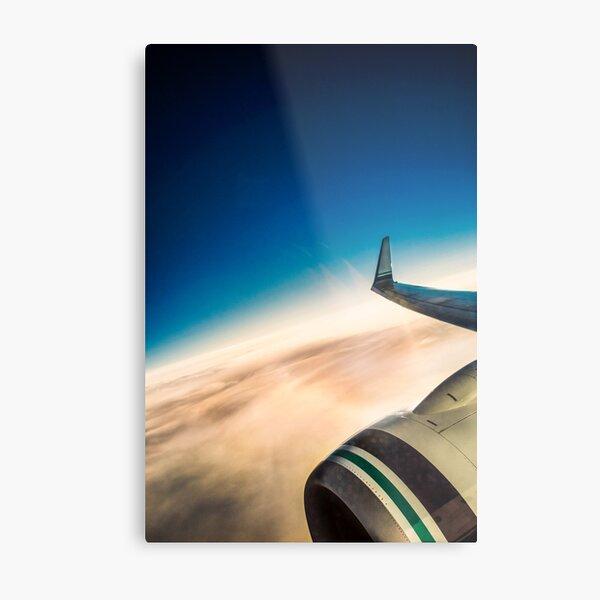 Sleek Jet Blue Sky Aerial Metal Print