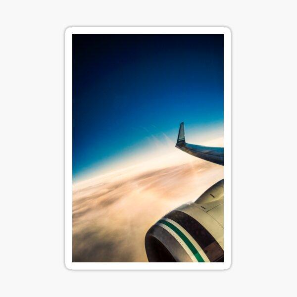 Sleek Jet Blue Sky Aerial Sticker