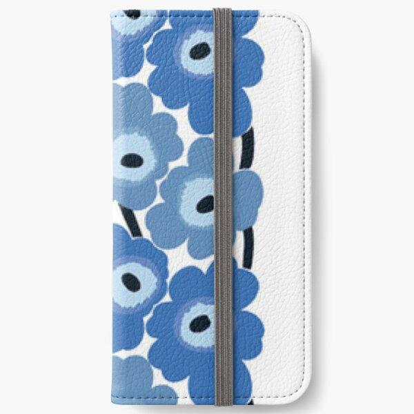 Marimekko Blue Floral Print iPhone Wallet