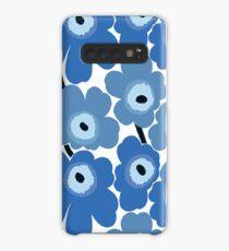 Marimekko Blue Floral Print Case/Skin for Samsung Galaxy