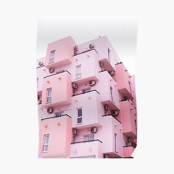 Edificio Rosa Estética Póster