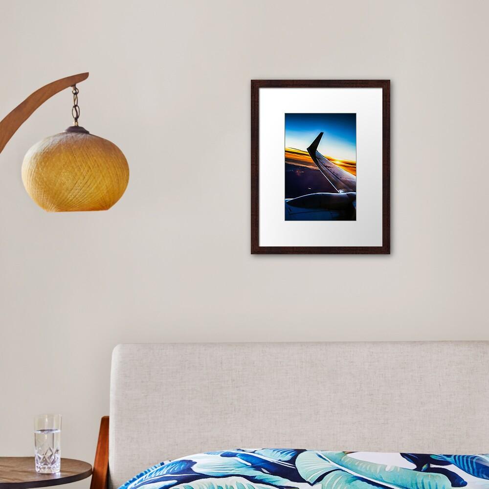 Sleek Jet Liner at Twilight Framed Art Print