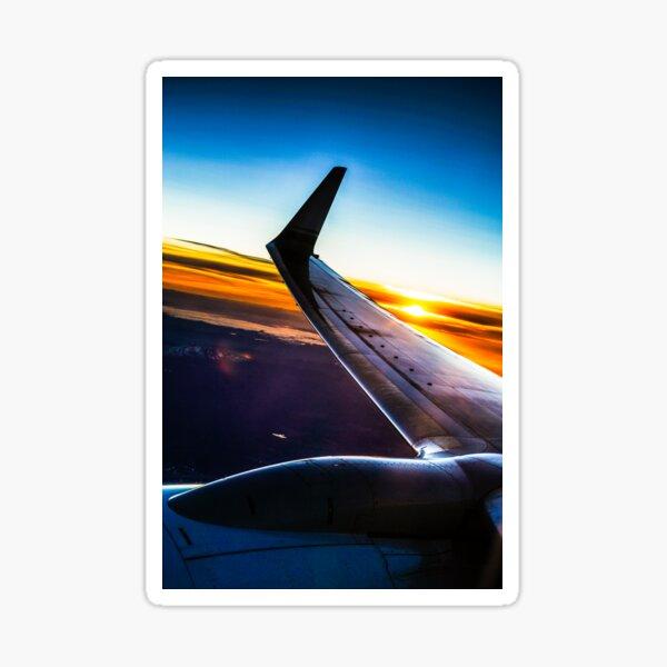 Sleek Jet Liner at Twilight Sticker