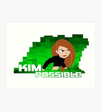 Kim Possible  Art Print