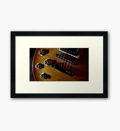 Guitar Icon : '59 Flametop Les Paul (off-camera flash) Framed Print
