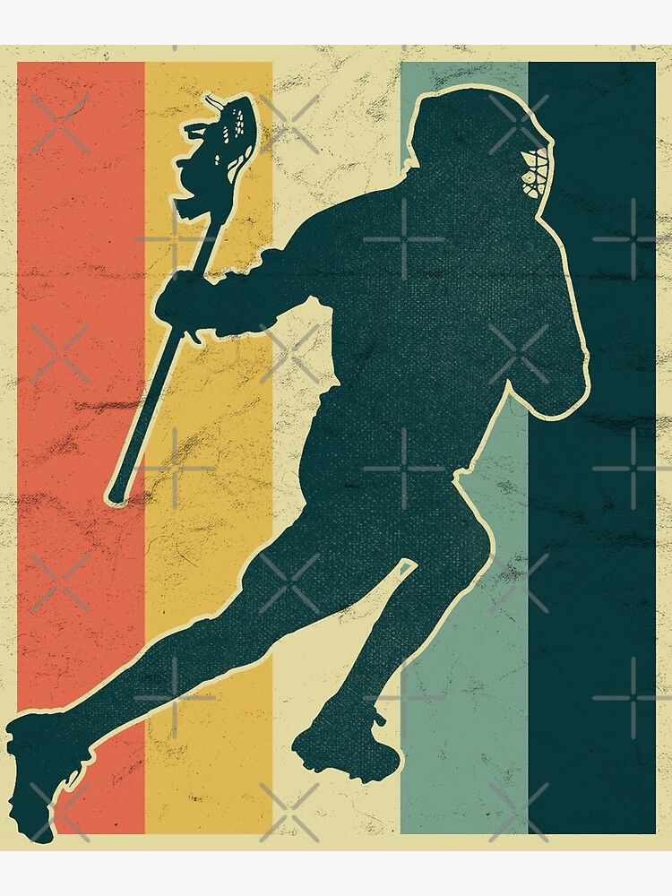 Lacrosse Payer Silhouette on Vintage Color Palette by fermo