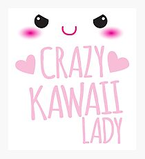 Crazy Kawaii Lady with cute little face Photographic Print