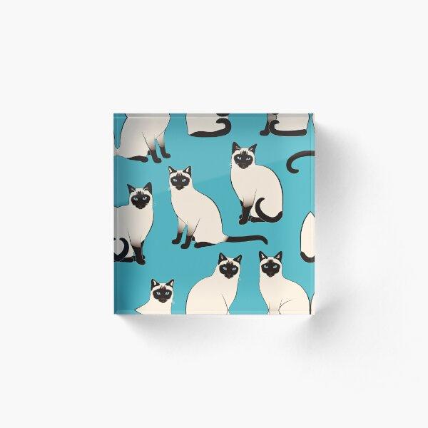 Siamese Cats - sparse pattern Acrylic Block