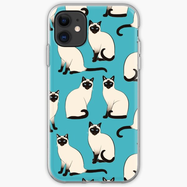 Siamese Cats - sparse pattern iPhone Soft Case