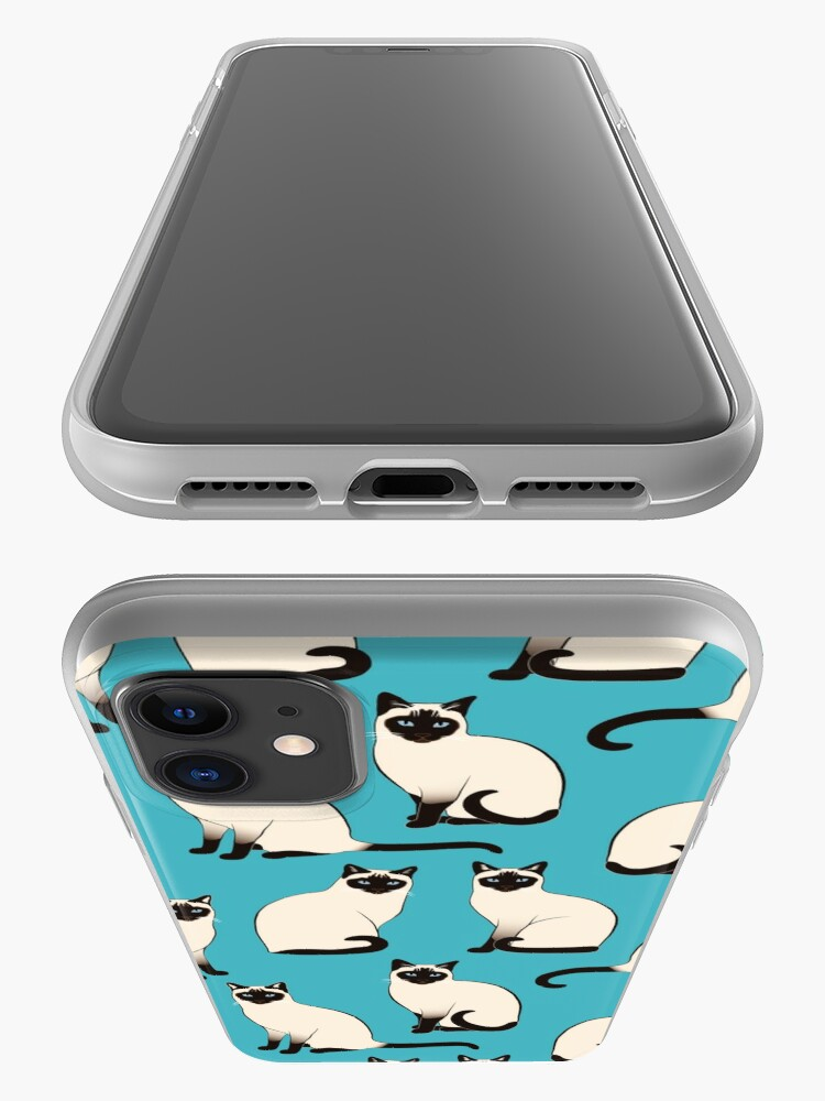Alternate view of Siamese Cats - sparse pattern iPhone Case & Cover