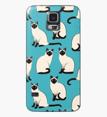 Siamese Cats - sparse pattern Case/Skin for Samsung Galaxy