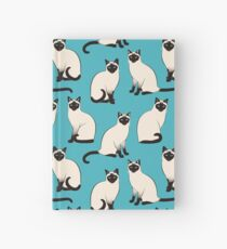 Cuaderno de tapa dura Gatos siameses - patrón escaso
