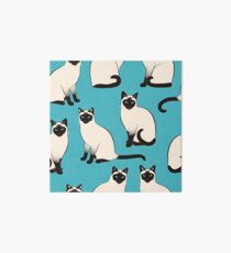 Siamesische Katzen - spärliches Muster Galeriedruck