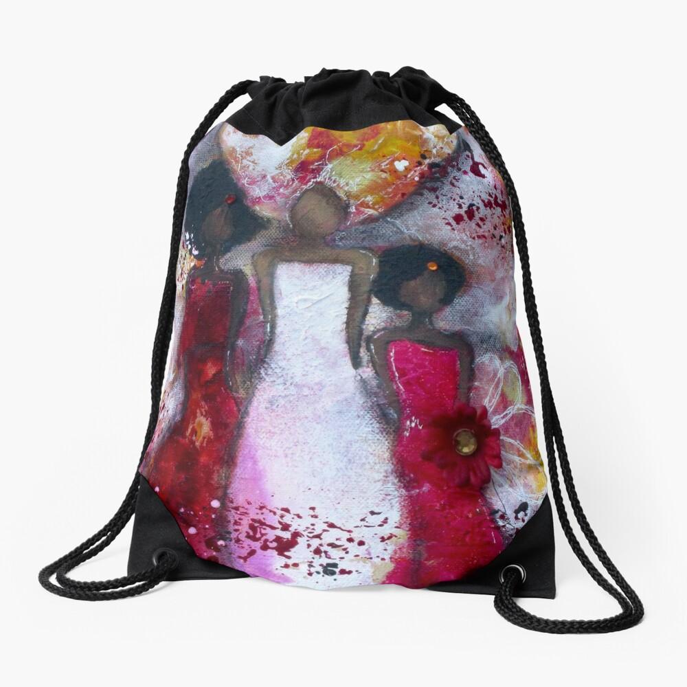 Fierce Fire Femme Drawstring Bag Front